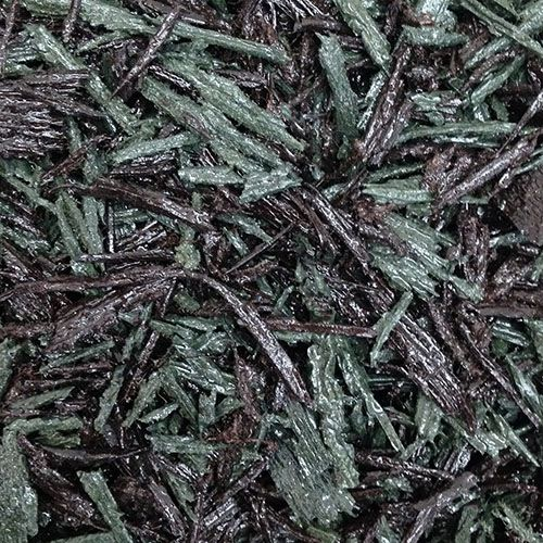 Green and brown bonded rubber mulch