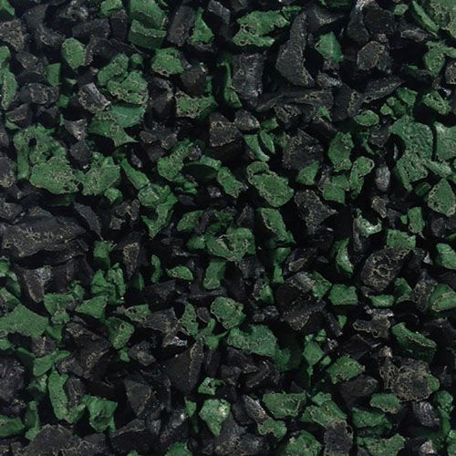 Green black fleck wet pour