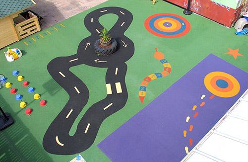 Playground flooring at nursery