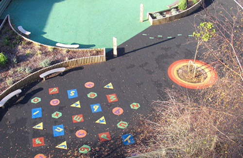 Playground flooring at school