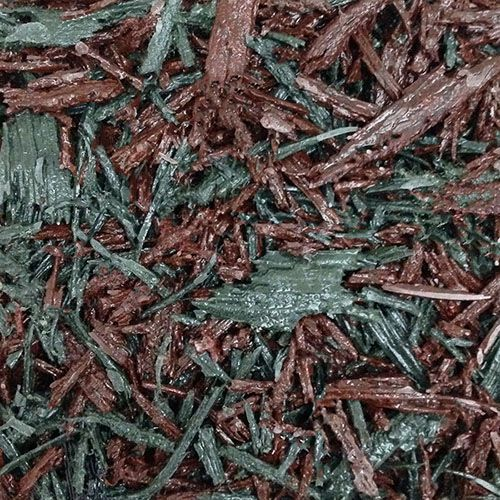 Red and green rubber mulch