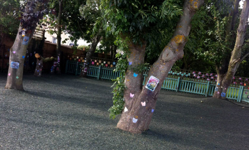 rubber mulch in playground