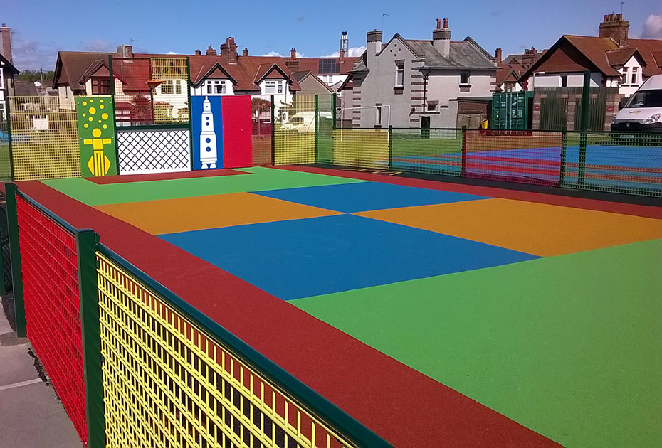 Colourful MUGA flooring