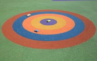 Coloured target flooring design