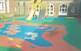 Colourful nursery play area
