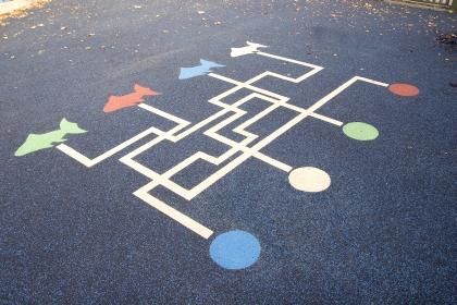 Maze Design In School Playground