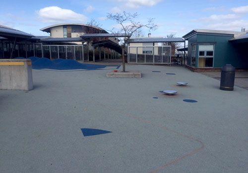 The Auchterarder School before playground transformation