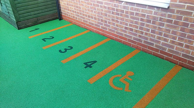 parking bays in nursery garden