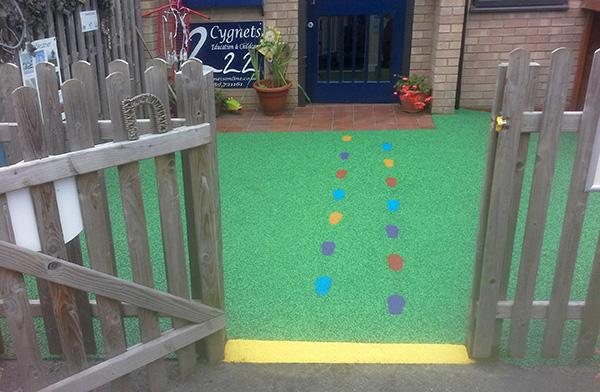 Quinton Cygnets Nursery Billy Bounce Playground Surfacing