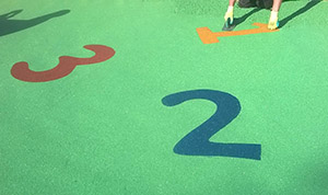 numbers in playground flooring