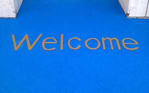 welcome sign at school