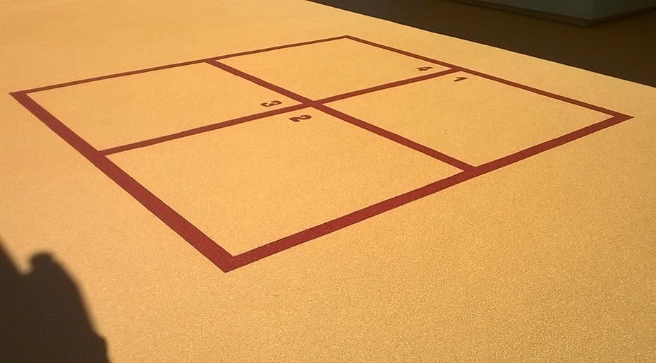 Four square playground game marking