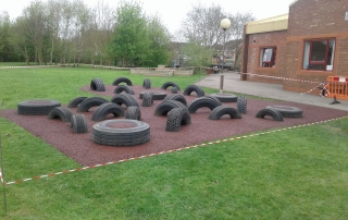 Tyre Park in Rubber Mulch