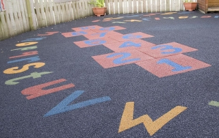 Nursery-playground-flooring-with-hopscotch-and-letters